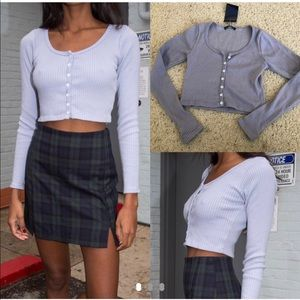 Brandy Melville PERIWINKLE Zelly Top